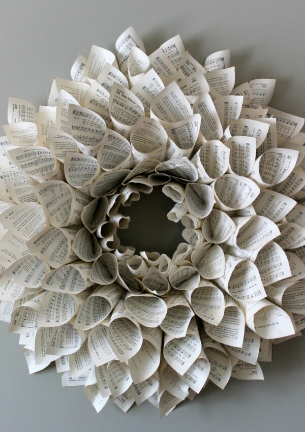 The Book Page Wreath