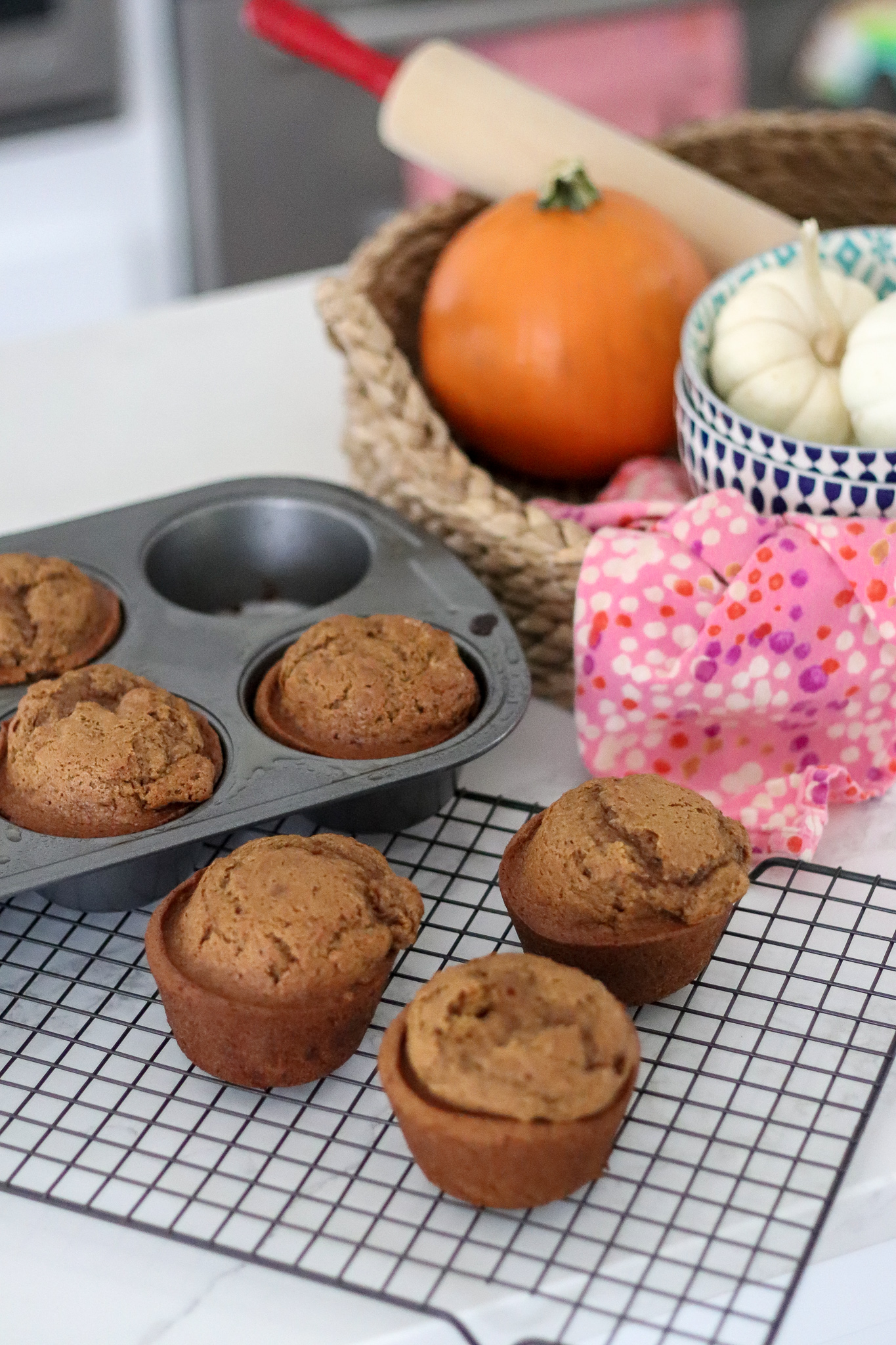 two ingredient pumpkin bread muffins