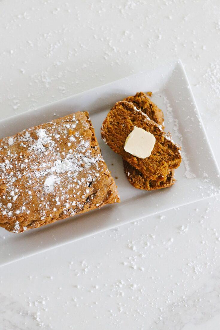 Two Ingredient Pumpkin Bread