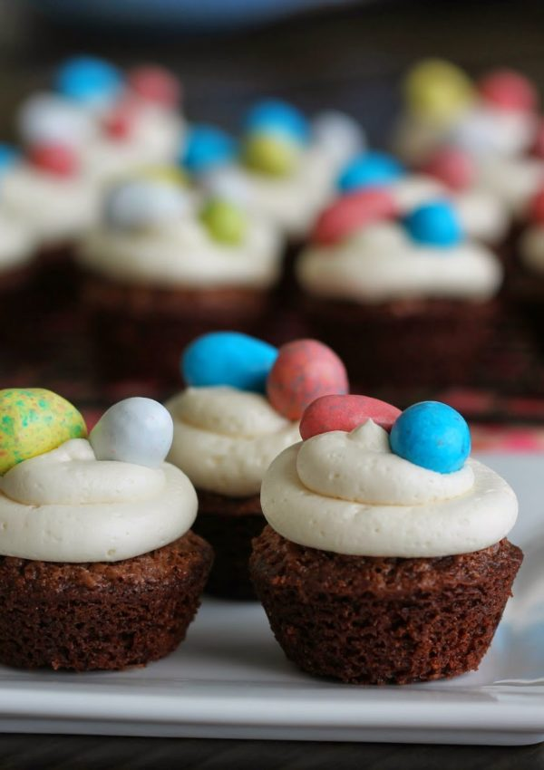 Mini Egg Nest Brownies