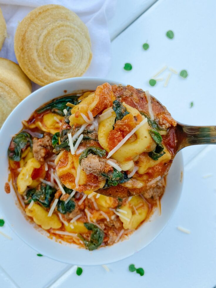 Sausage & Cheese Tortellini Soup