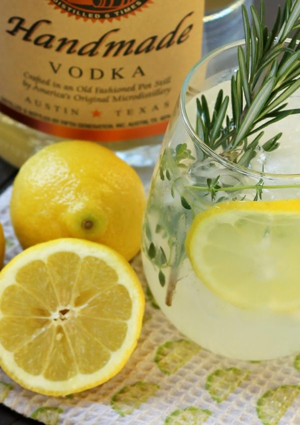Rosemary Thyme Happy Hour Lemonade