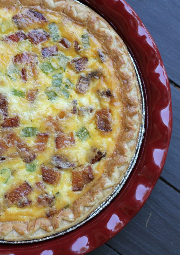 Bacon & Cheddar Grits Quiche