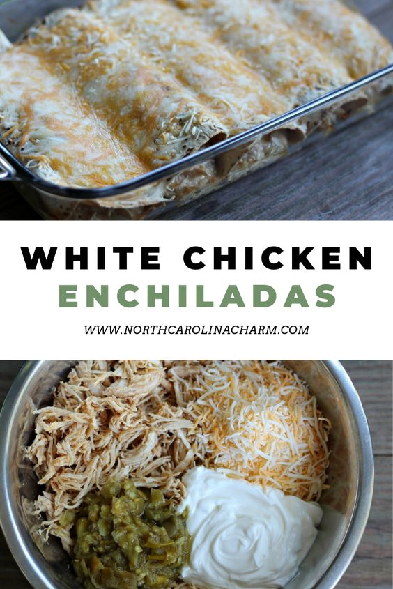 North Carolina lifestyle blogger, Christina shares an easy and delicious white chicken enchiladas recipe! See how to create it for yourself!