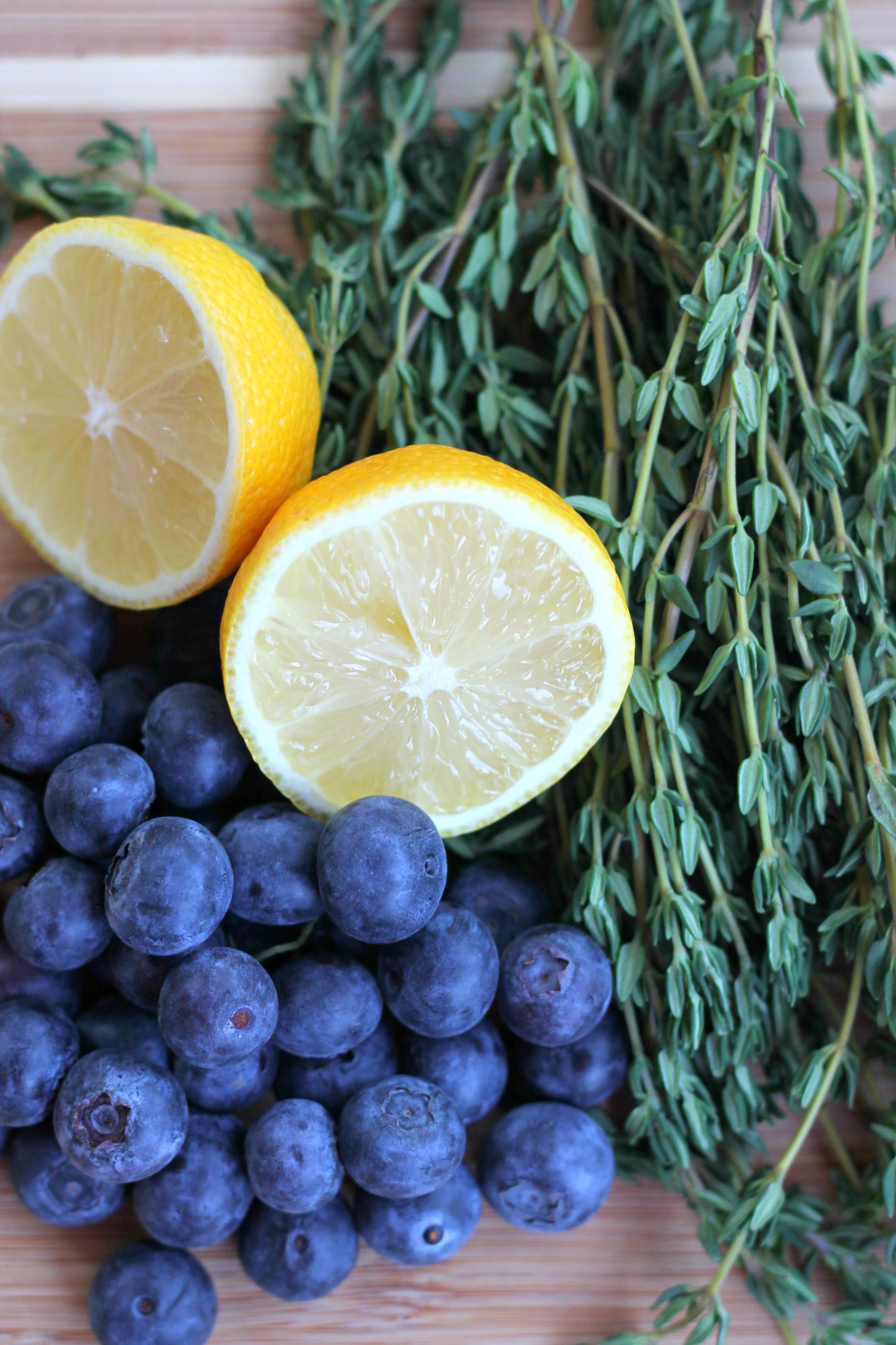 Blueberry Thyme Vodka Smash