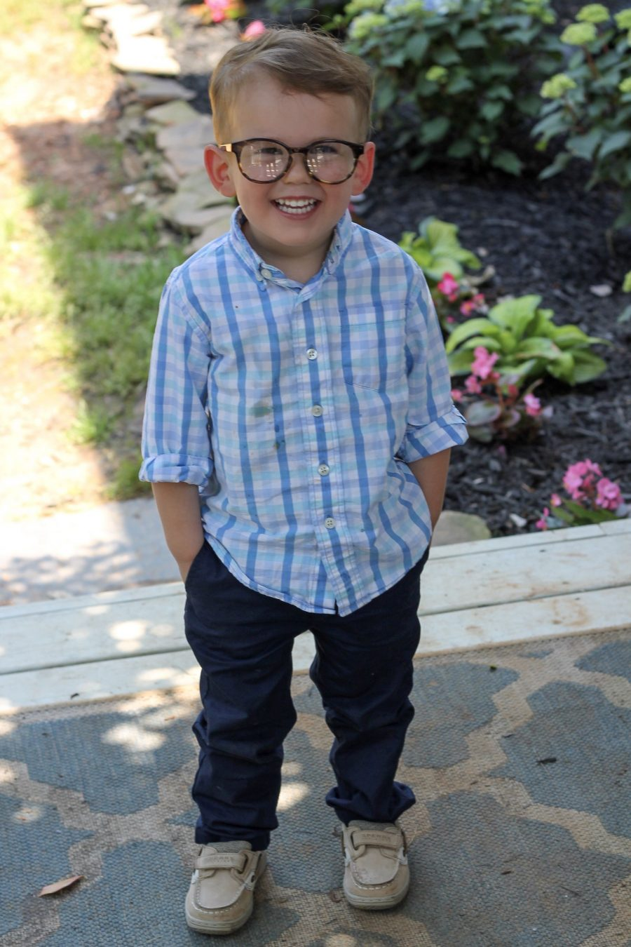 Tom Tom's Bilateral Cataracts Update {Glasses!}