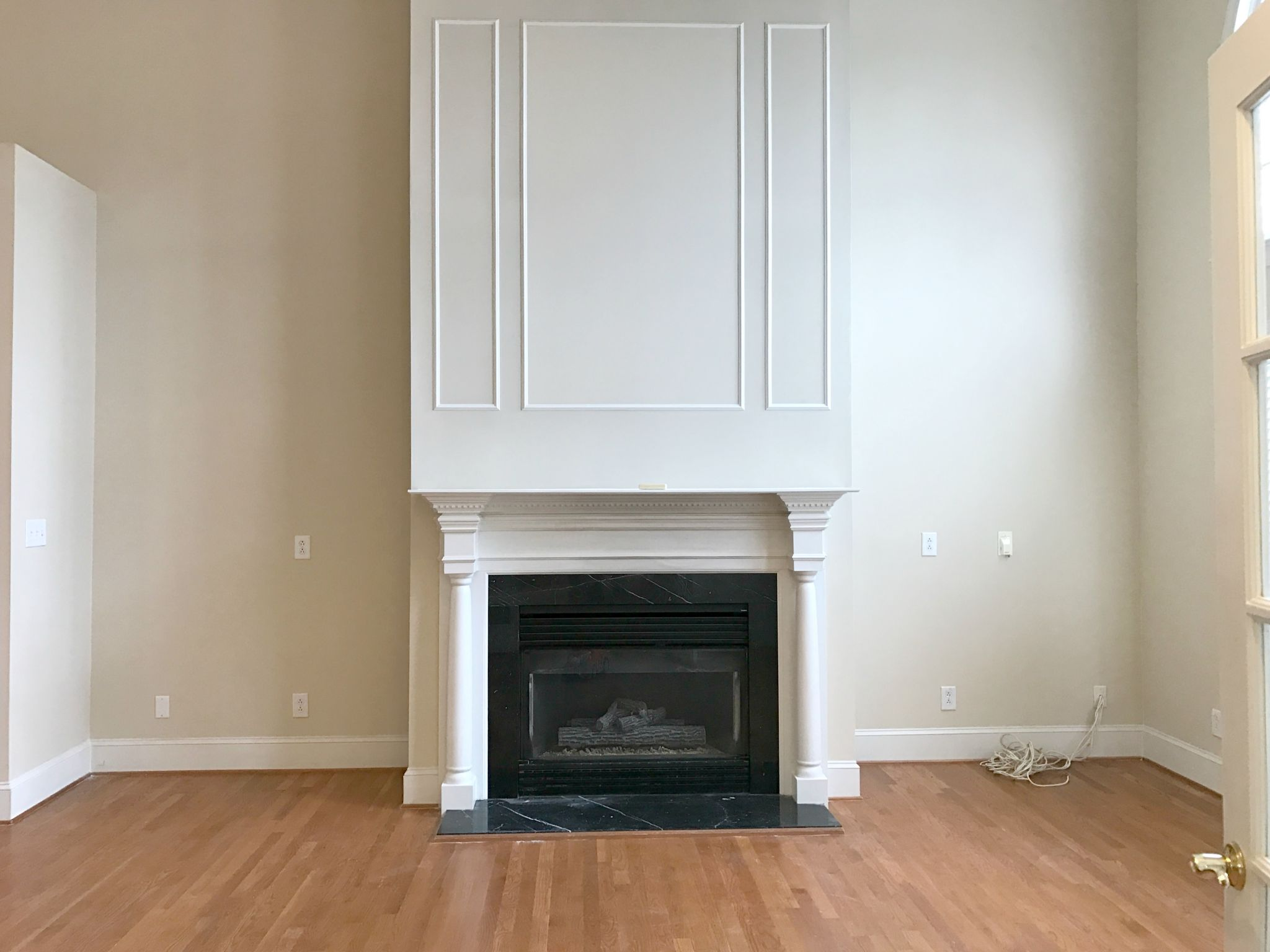 fireplace mantel remodel