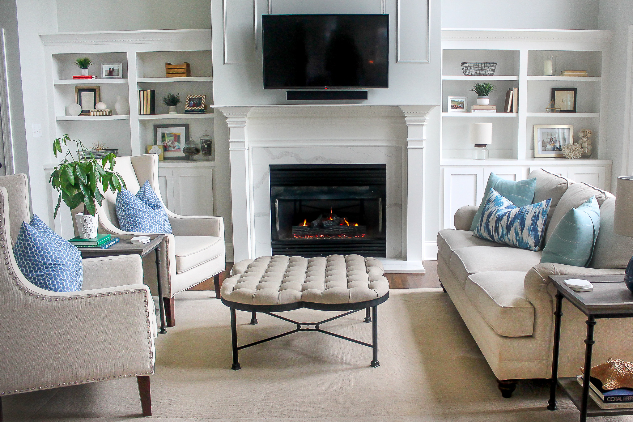 fireplace mantel tile
