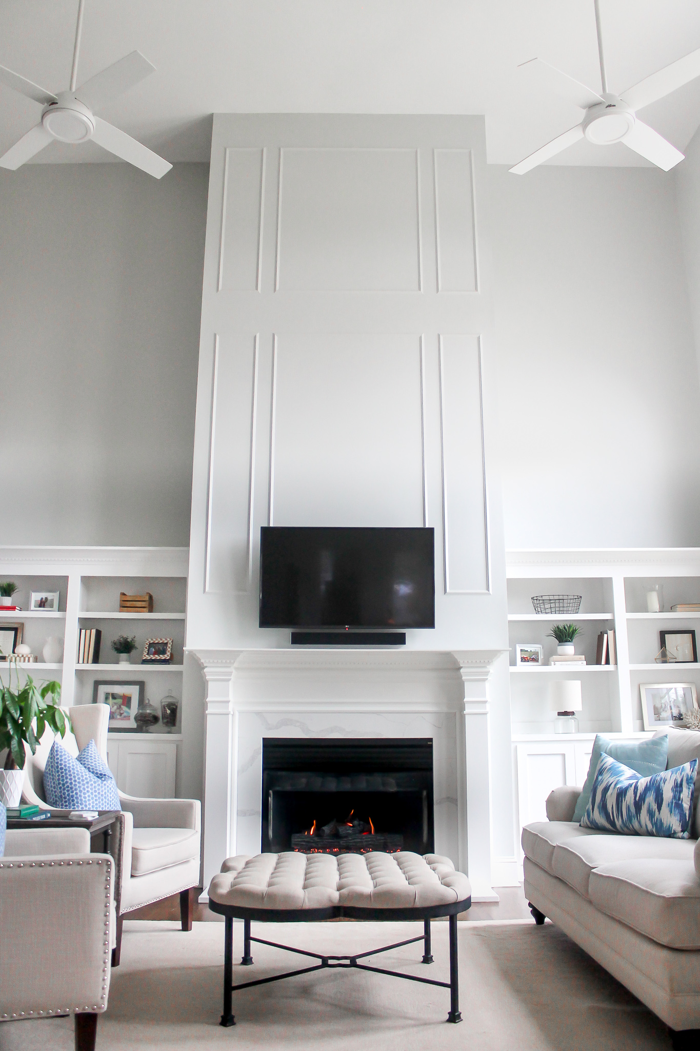 North Carolina lifestyle blogger, Christina shares a fireplace mantel makeover. Check out how she styles and decorates this fireplace mantel!