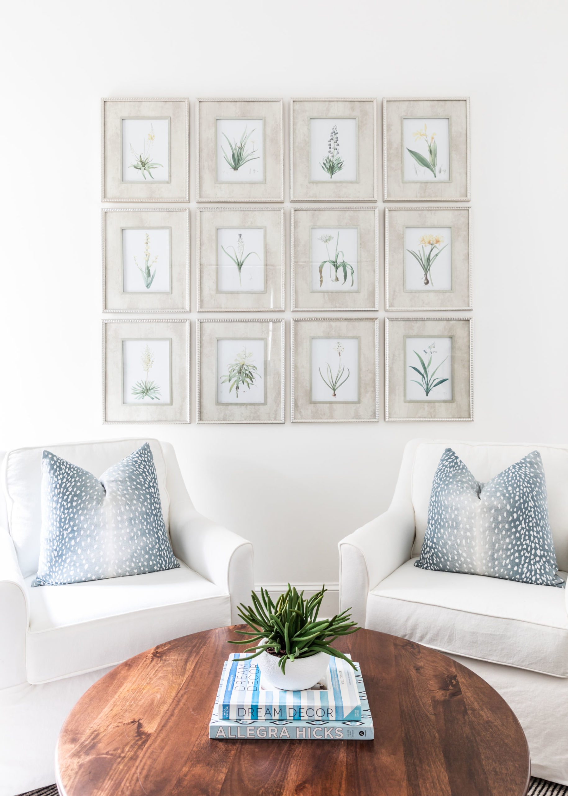 coffee table and wall art