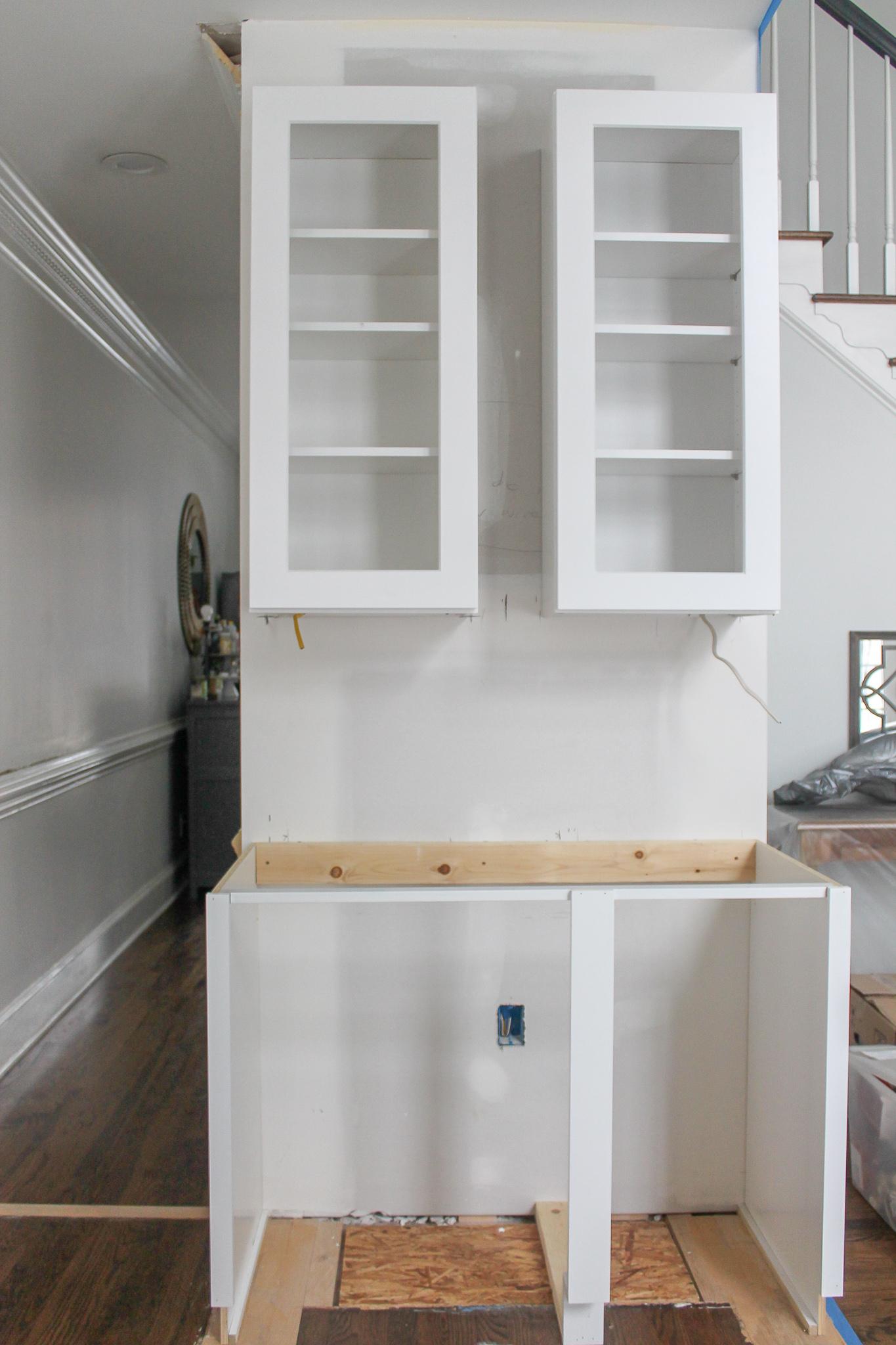 beverage center cabinets kitchen