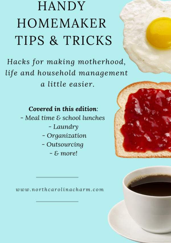 Homemaker Tips: Meal Time, Laundry, Organization, Outsourcing & More