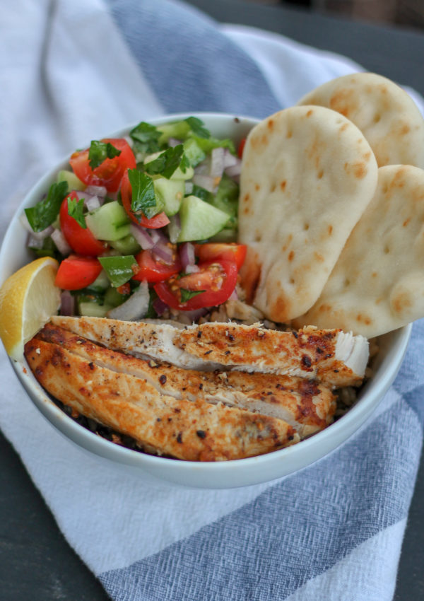 Chicken Shawarma Quinoa Bowls