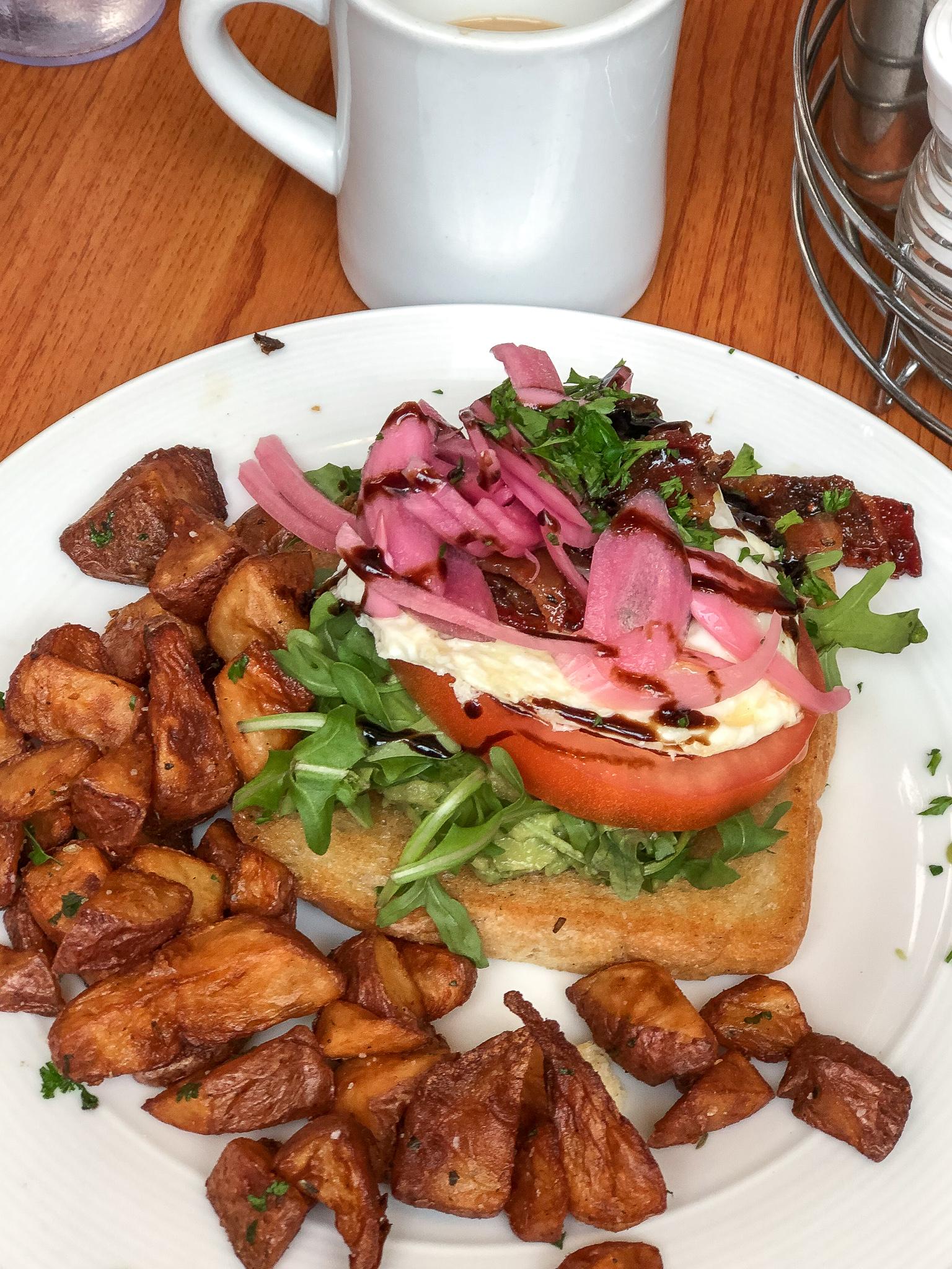Avocado Toast - Sunny Point Cafe - Asheville, NC