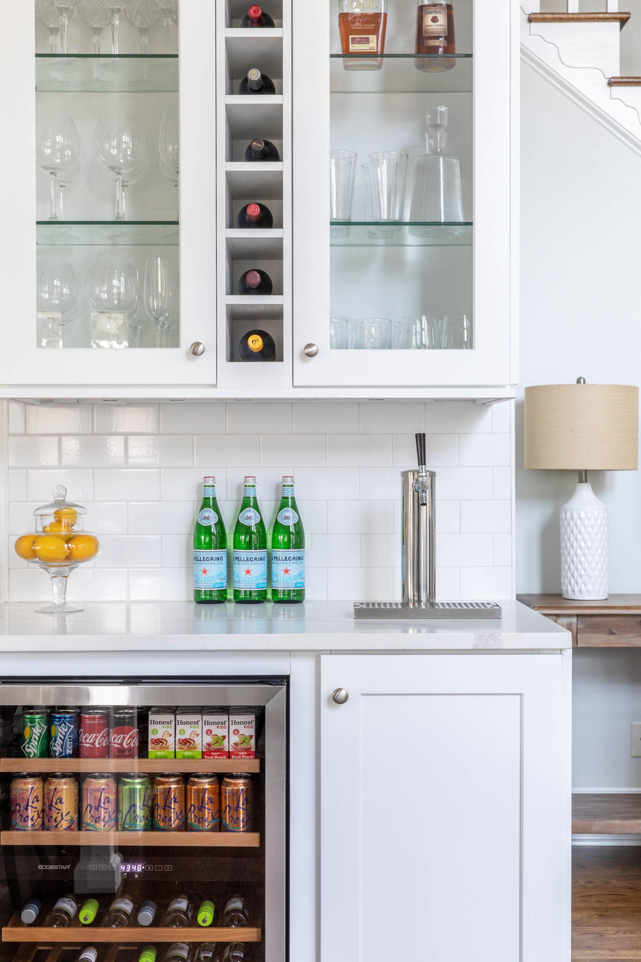 kitchen remodel beverage cabinets