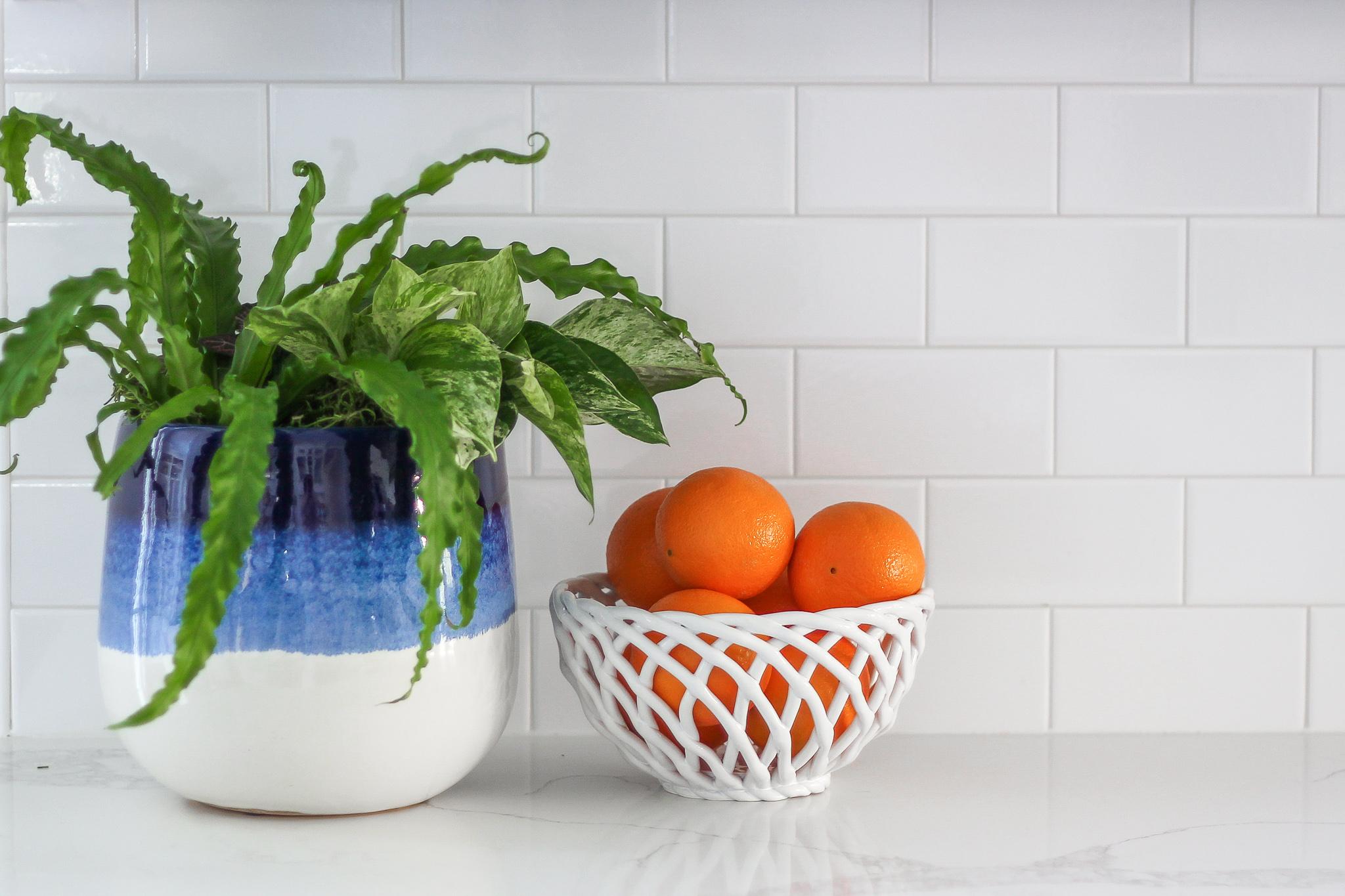 oranges in bowl kitchen counter