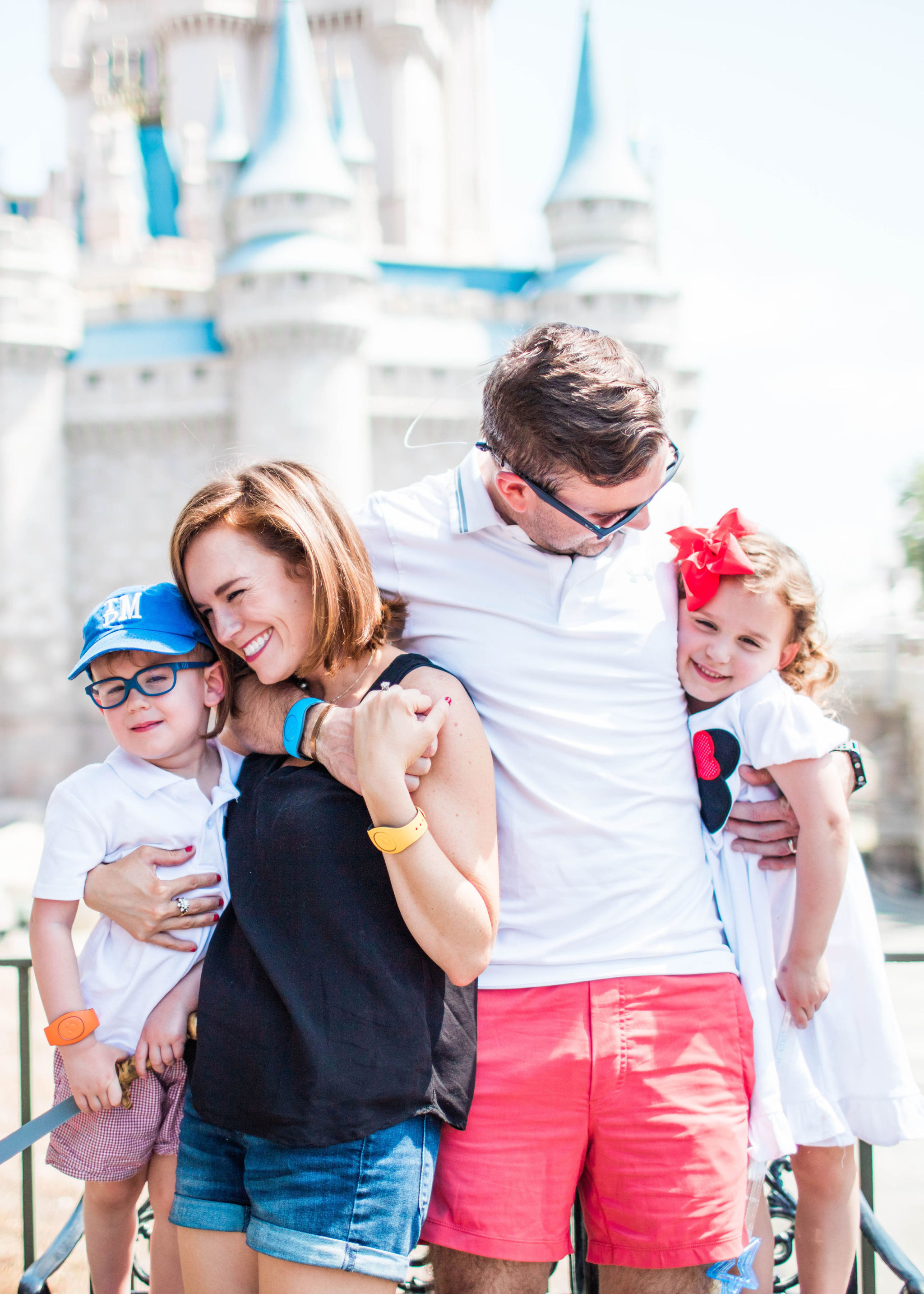 family at Disney World