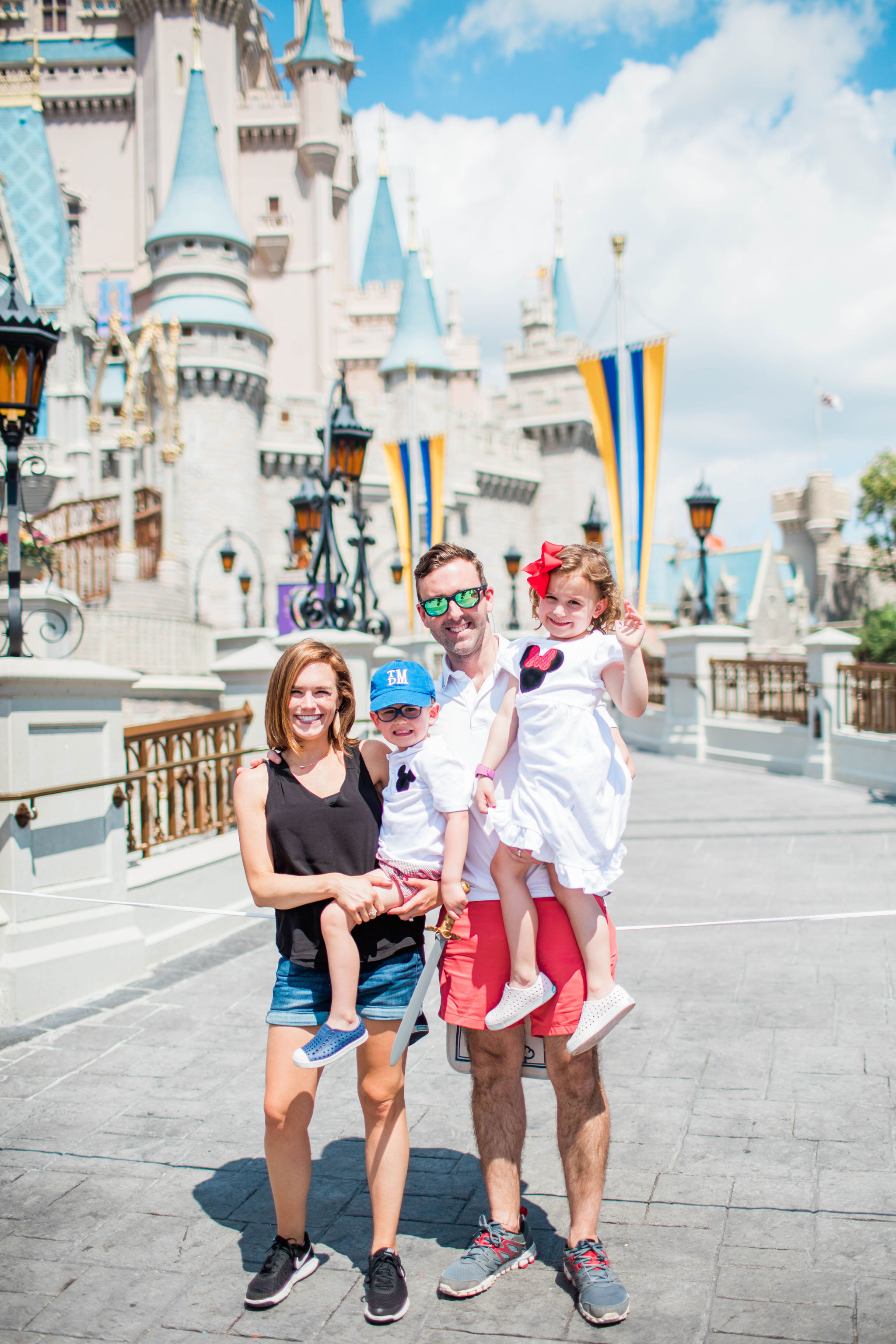 family castle photo Disney