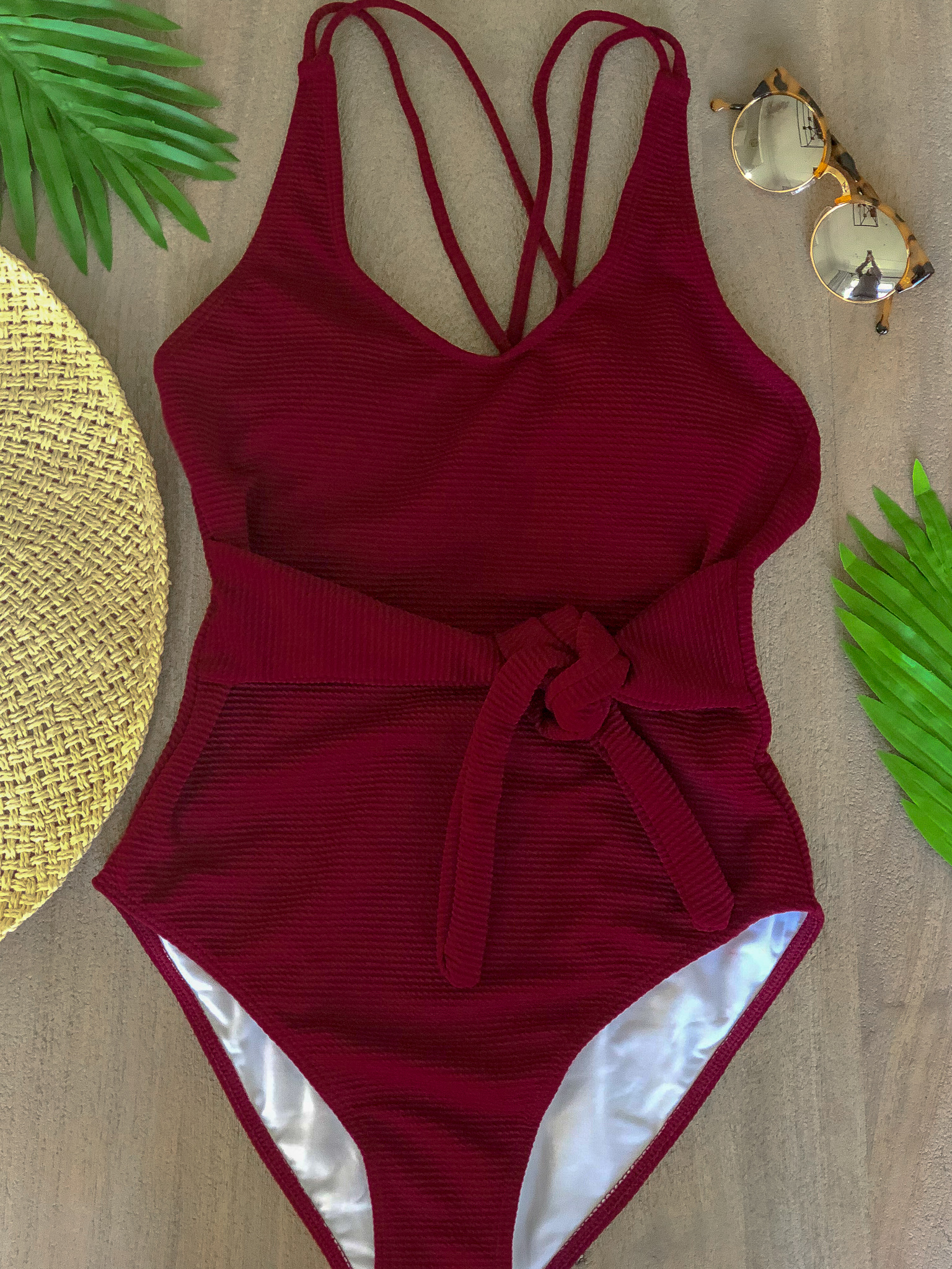 maroon one piece amazon