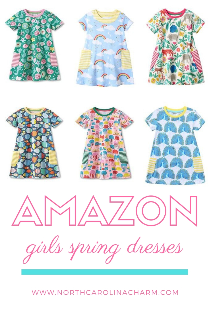 North Carolina lifestyle blogger, Christina shares her Amazon favorites for Girls Spring Dresses! Check out these affordable girls dresses for Spring!