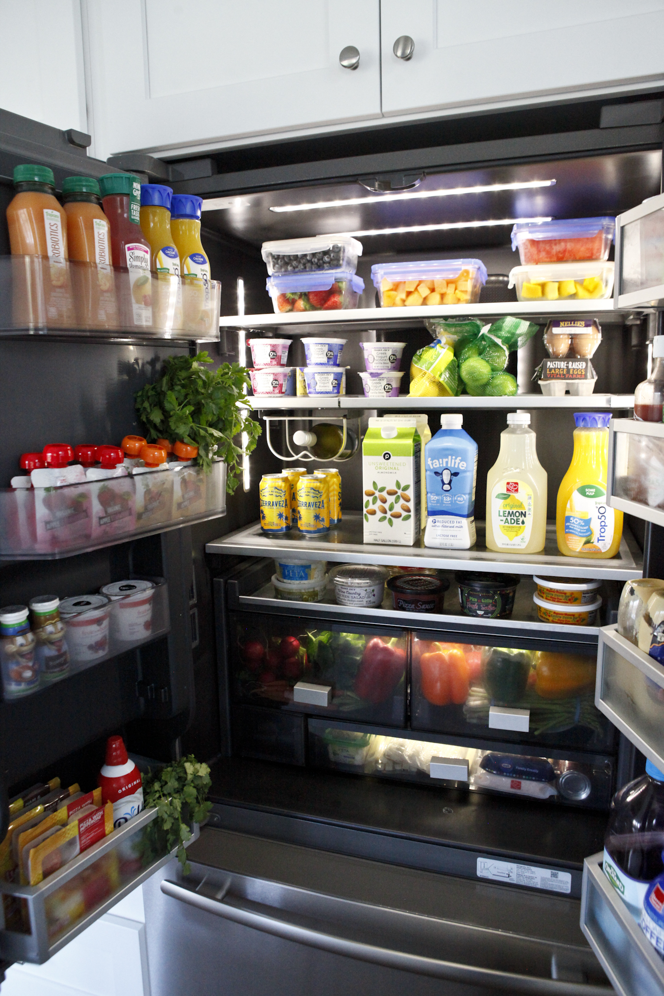 inside of the fridge