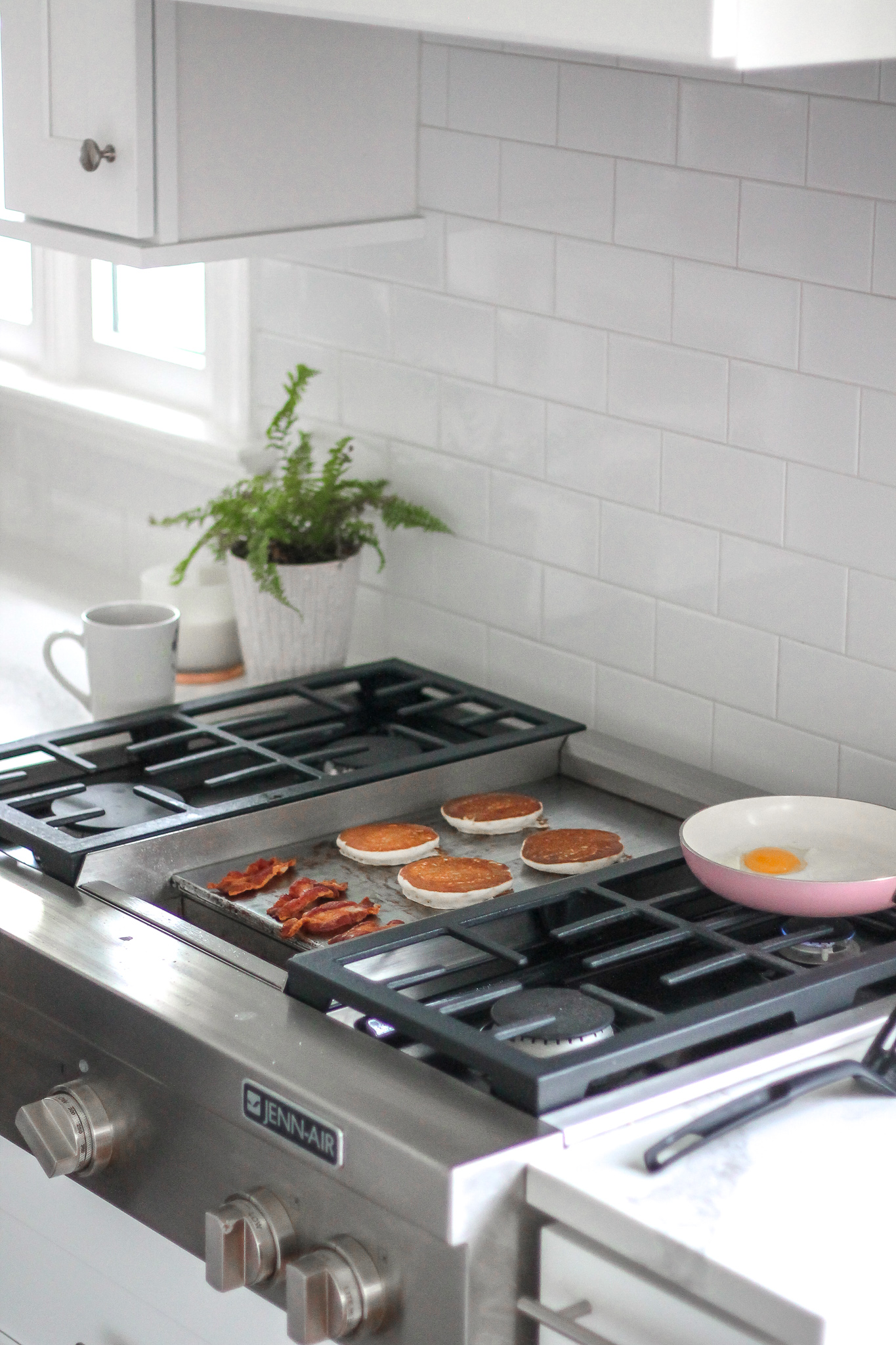 stove top with griddle