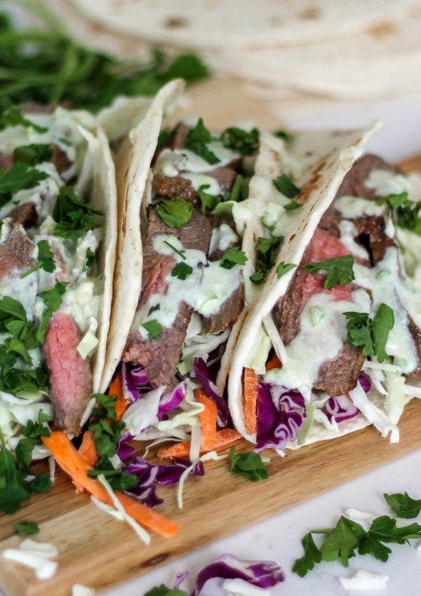 MOINK | Flank Steak Tacos
