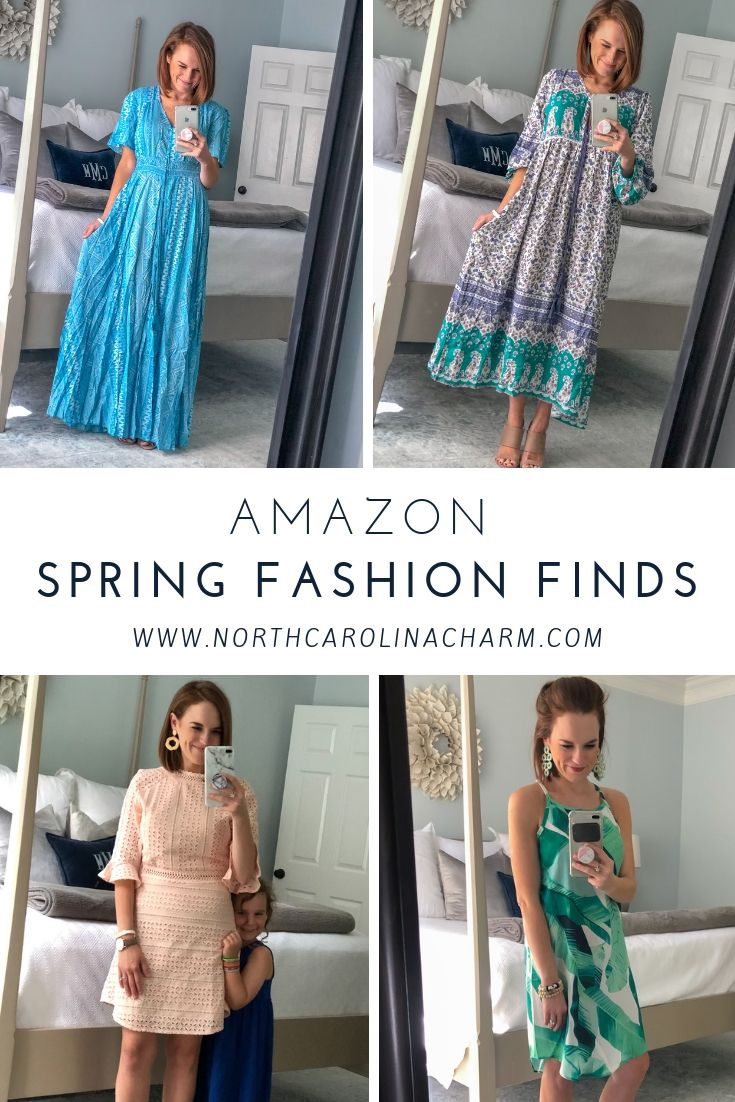 North Carolina lifestyle blogger, Christina shares an Amazon Spring Dress Haul! Check out these affordable spring dress options from Amazon!