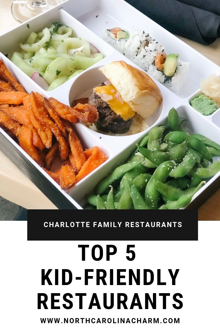 North Carolina lifestyle blogger, Christina shares the Top 5 Charlotte Kid-Friendly Restaurants! Check out where to go with your kids in Charlotte!