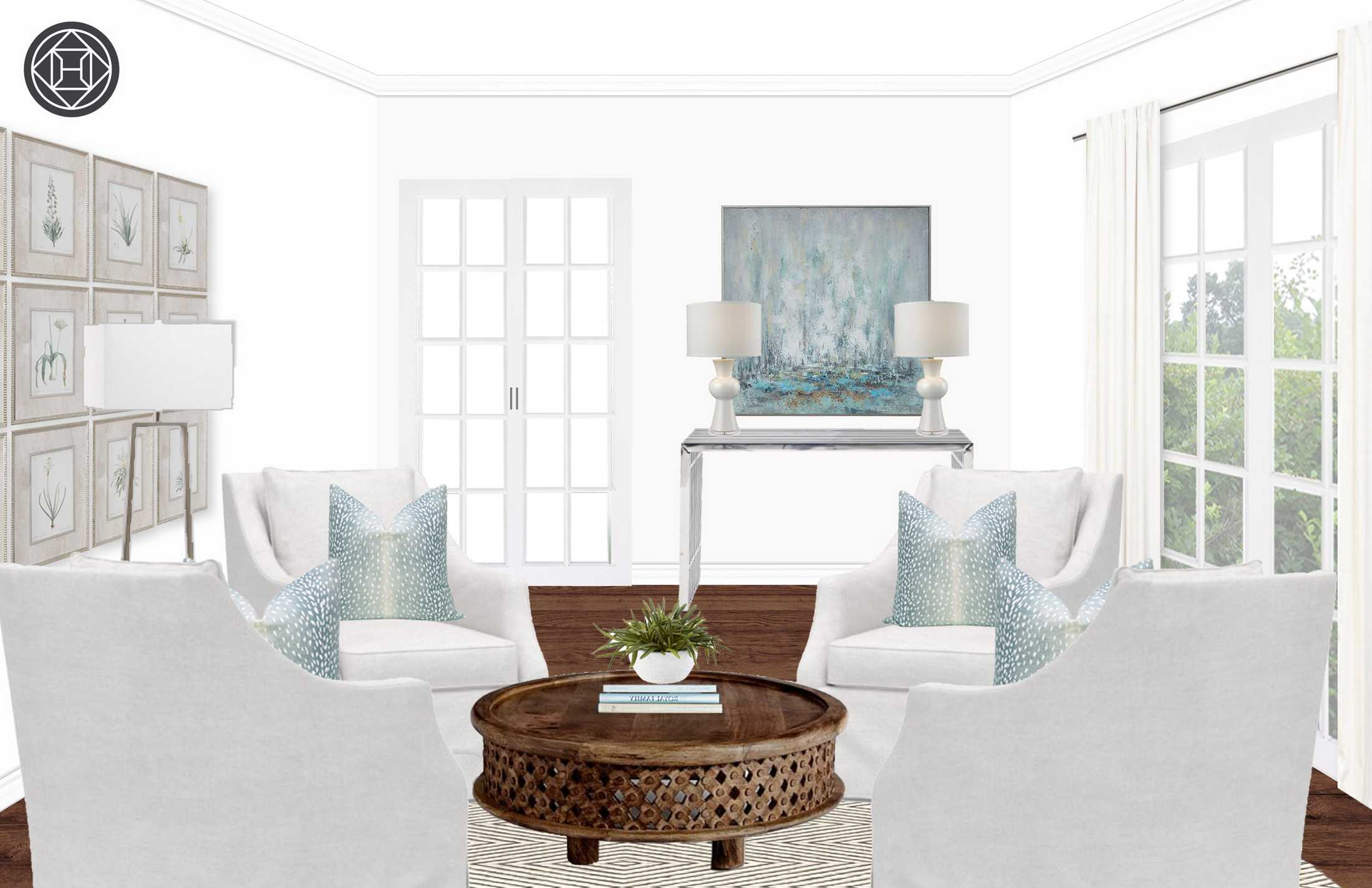 circle room design plans