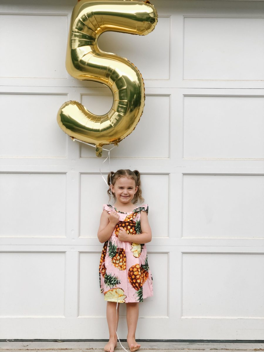 Caroline is 5!