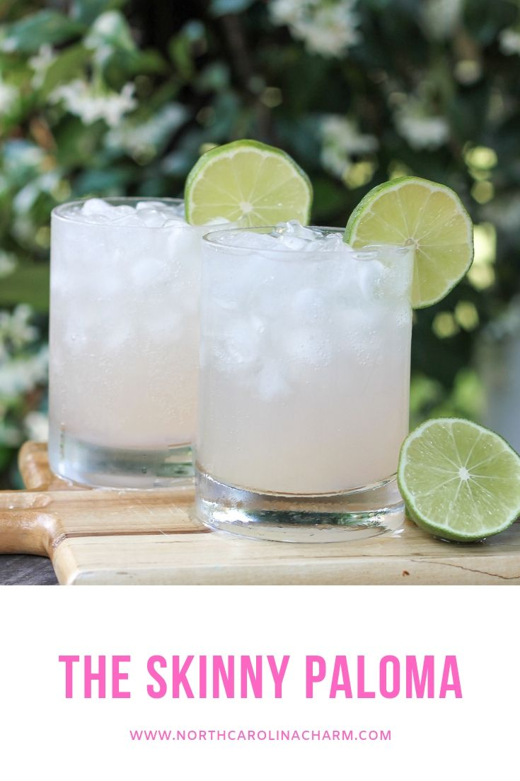 Looking for a new cocktail recipe? North Carolina lifestyle blogger, Christina shares a delicious skinny Paloma recipe, check it out!