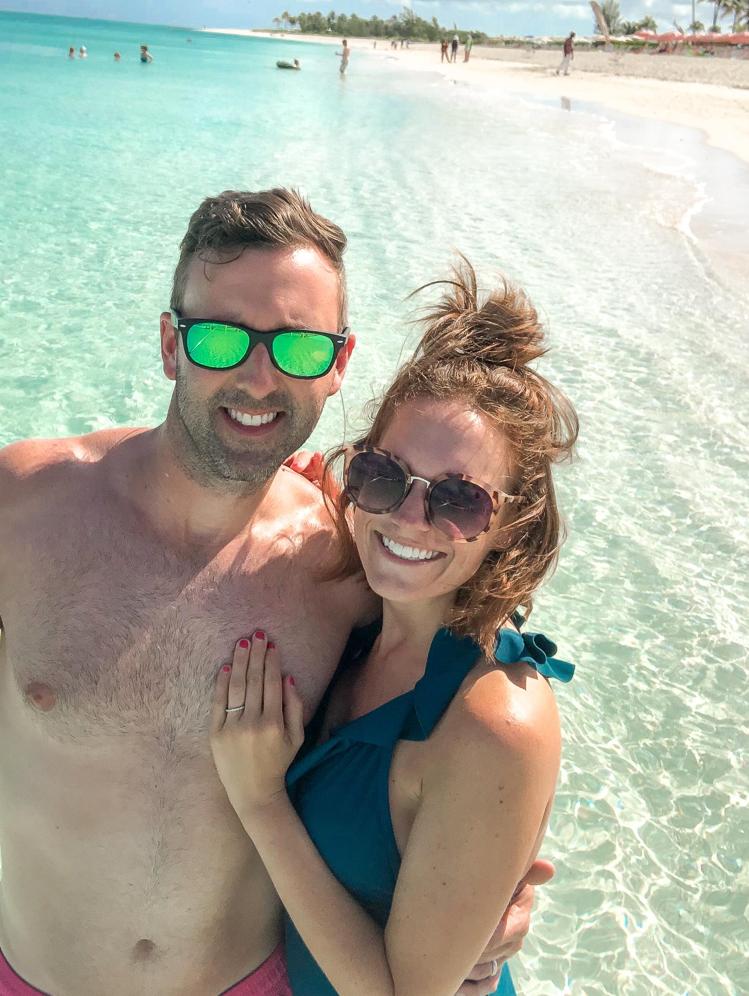 couple on beach Turks & Caicos