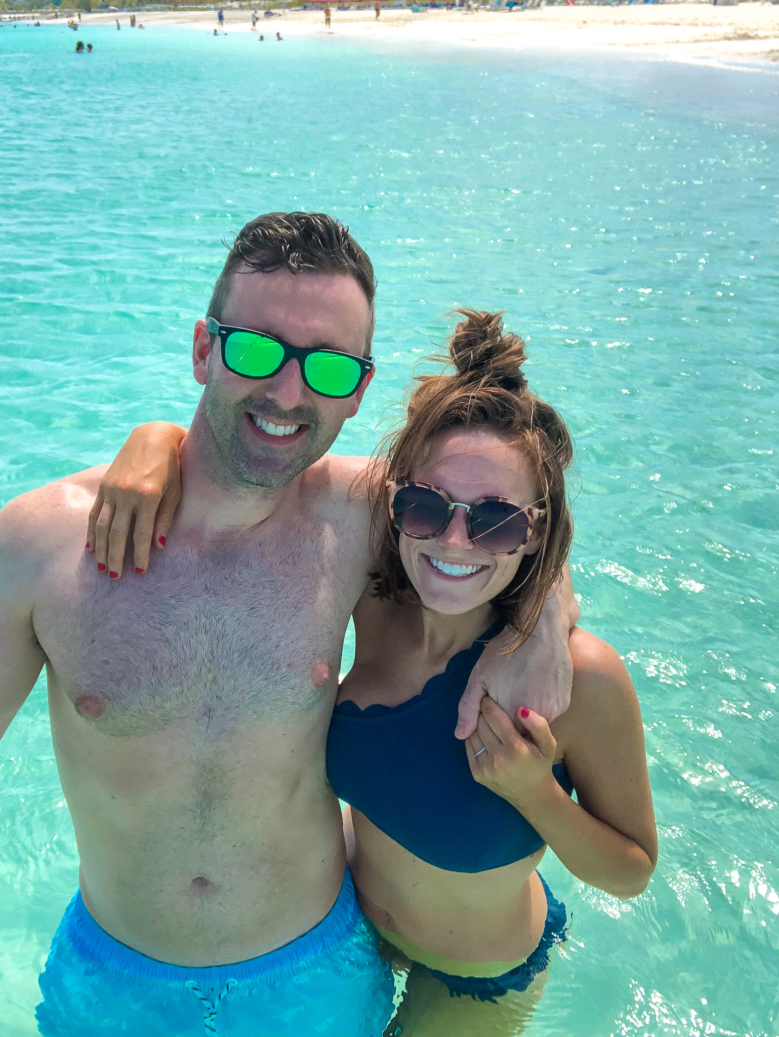 couple in water Turks & Caicos