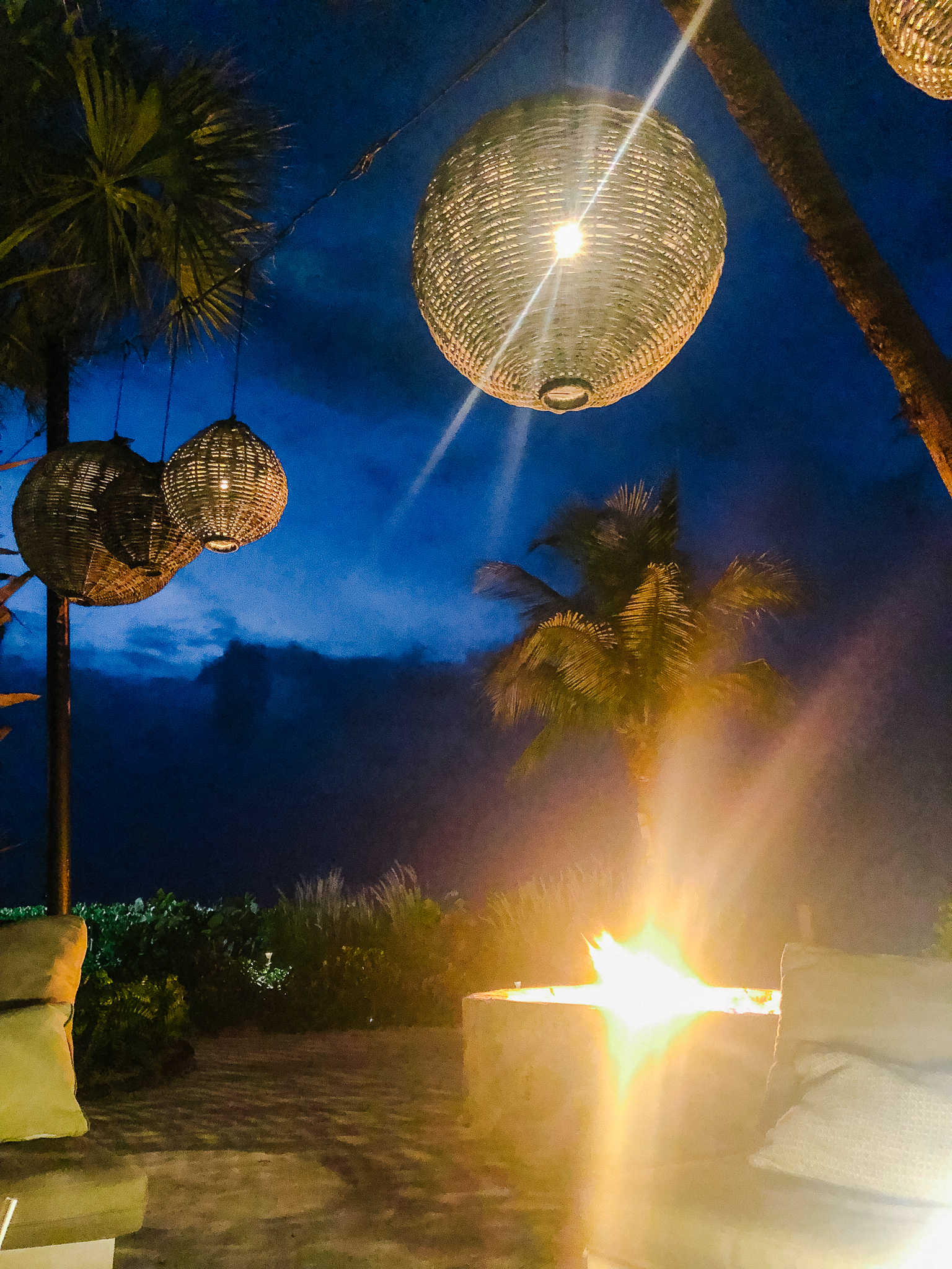 Fire pit at night Grace Bay Club