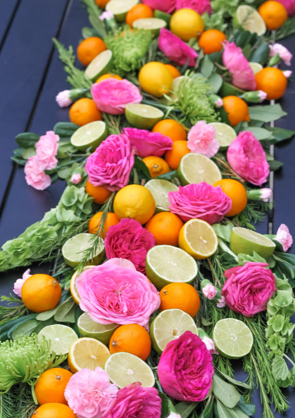 Fruit & Flower Summer Tablescape