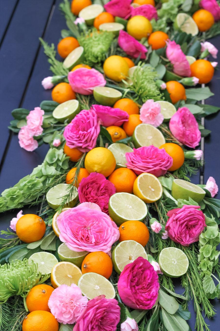 Fruit & Flower Summer Tablescape
