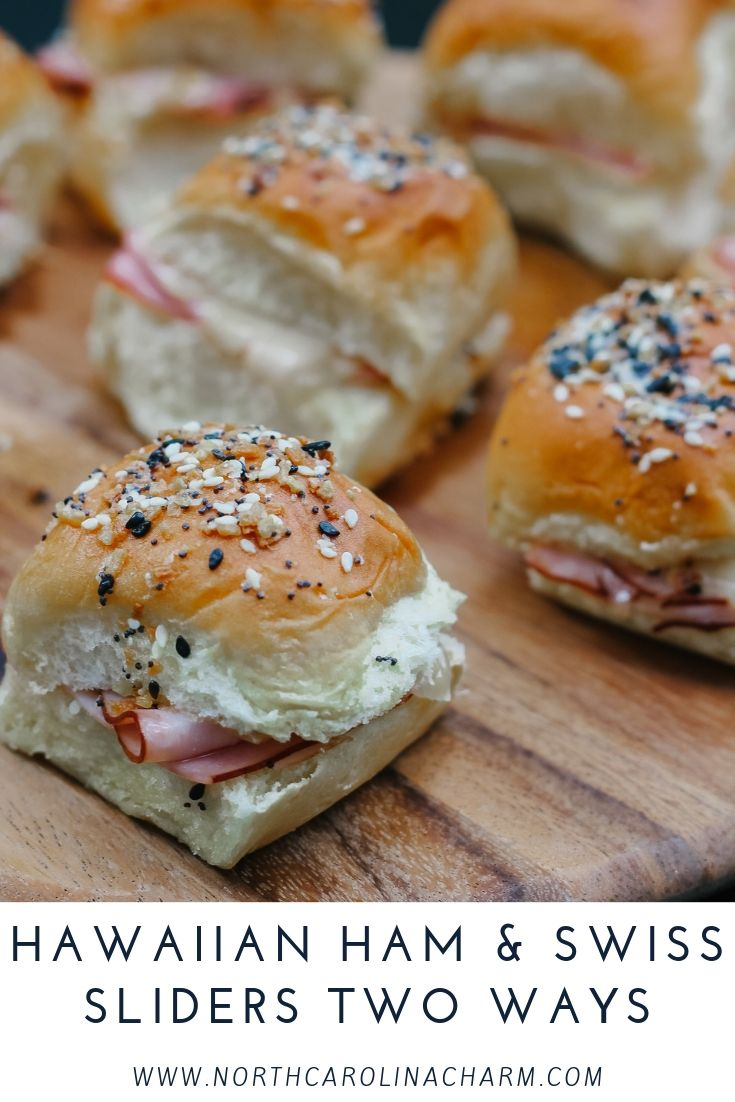 North Carolina lifestyle blogger, Christina shares an easy and delicious Hawaiian Ham Sliders recipe with two different ways to enjoy!
