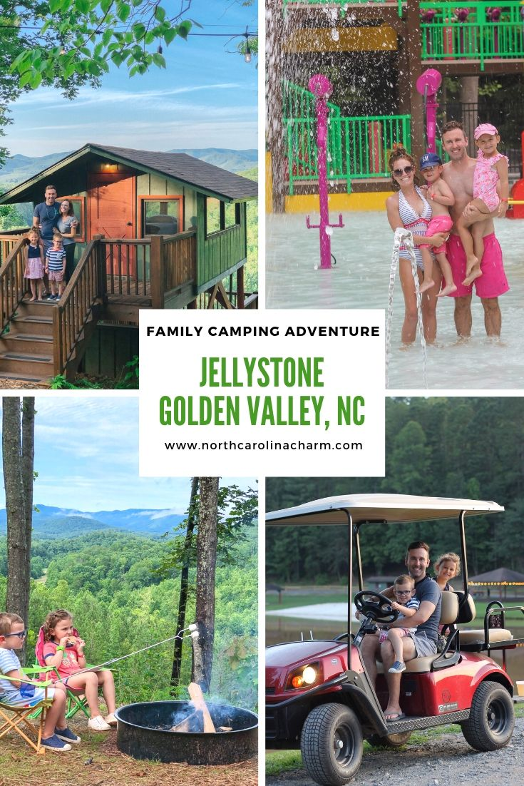 North Carolina lifestyle blogger, Christina shares a family camping adventure at Jellystone Park Camp Golden Valley! Check it out!