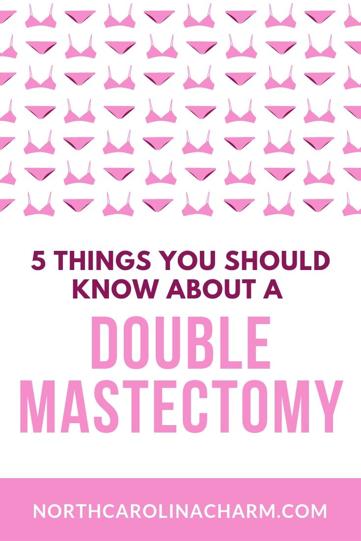 North Carolina lifestyle blogger, Christina shares the 5 Things You Should About A Double Mastectomy! Check it out!