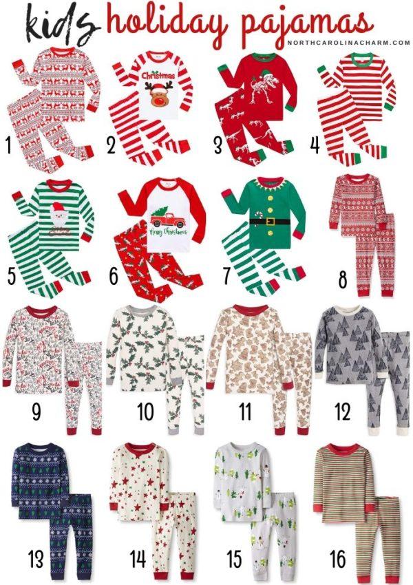 Holiday Pajamas from Amazon