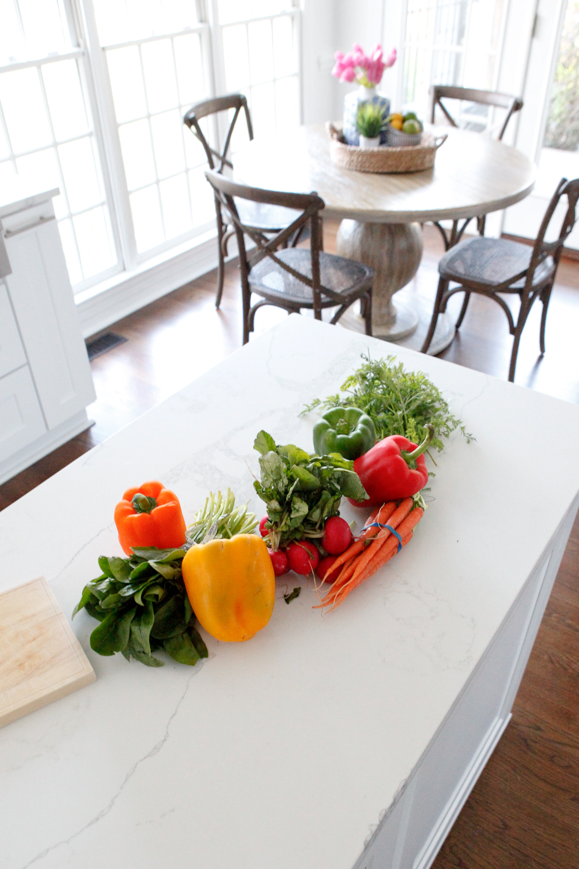 vegetables on counter top