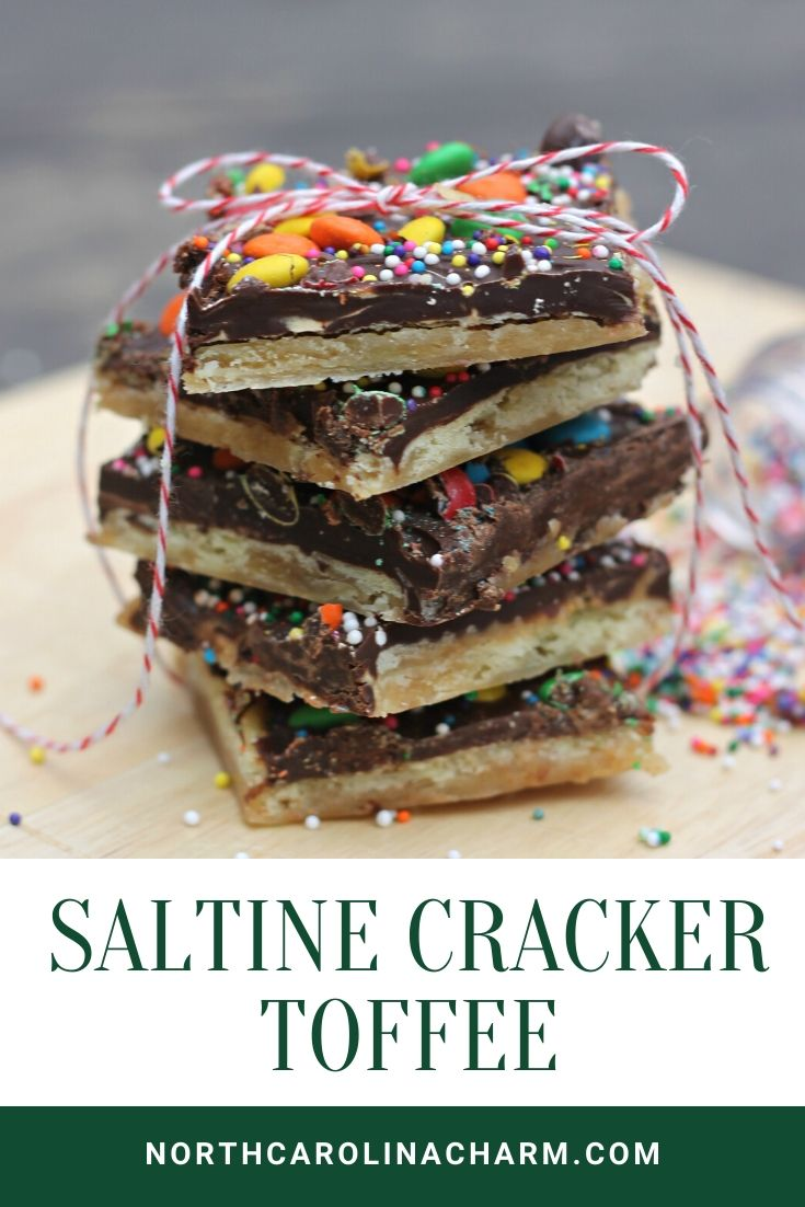 North Carolina lifestyle blogger, Christina shares a delicious Saltine Cracker Toffee recipe. Check out how to create this delicious snack!