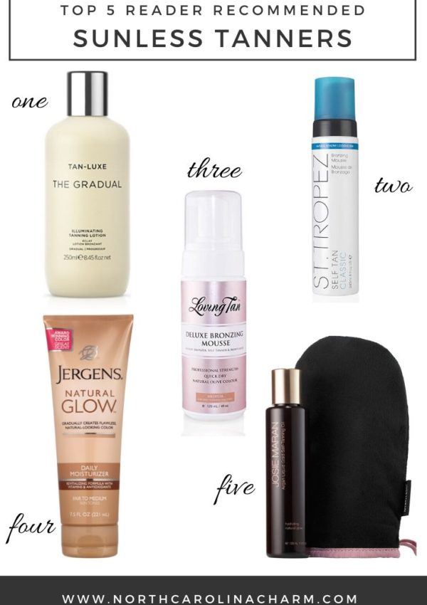 Reader Round-Up: Top 5 Sunless Tanners