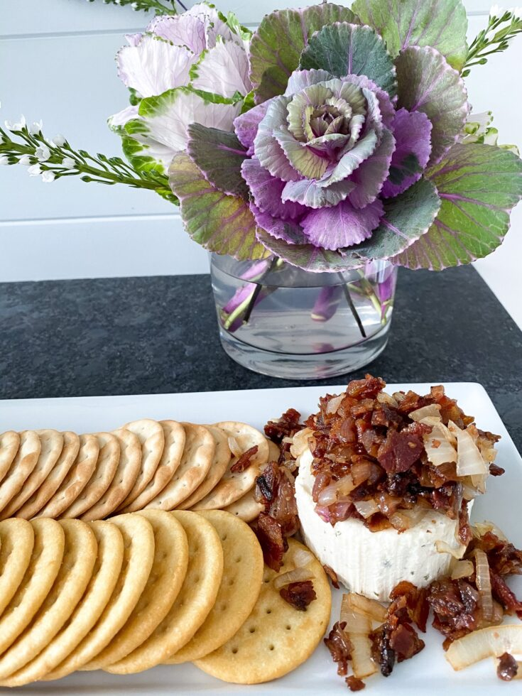 Boursin Cheese with Caramelized Onions & Bacon