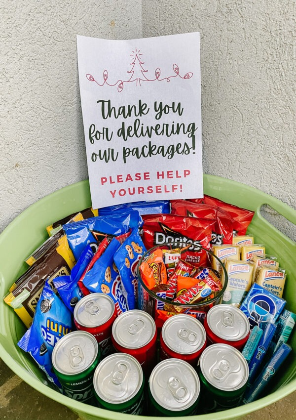 Delivery Driver Treat Basket (& Printable)