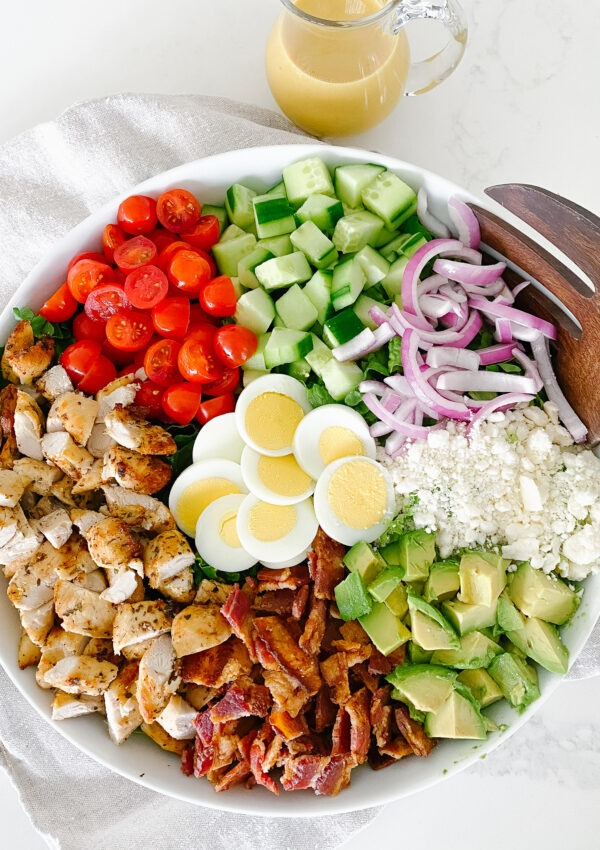 The Best Chicken Cobb Salad with Honey Dijon Vinaigrette