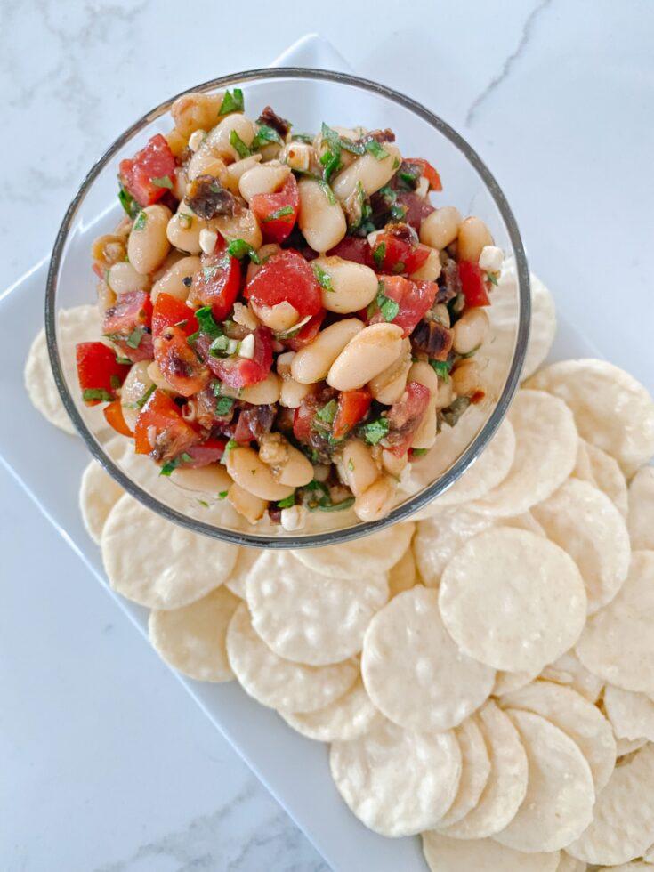 Marinated White Bean Dip (Dairy-Free, Vegan)