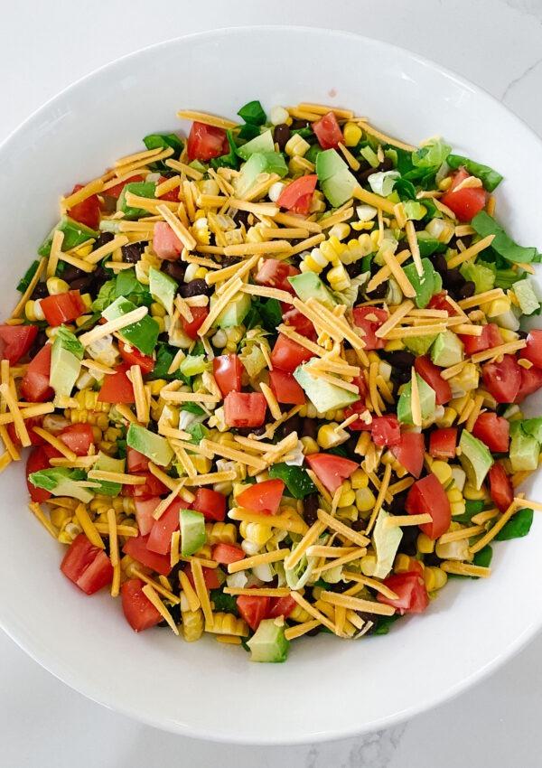 Easy Black Bean Taco Salad (Dairy-Free & Vegan)